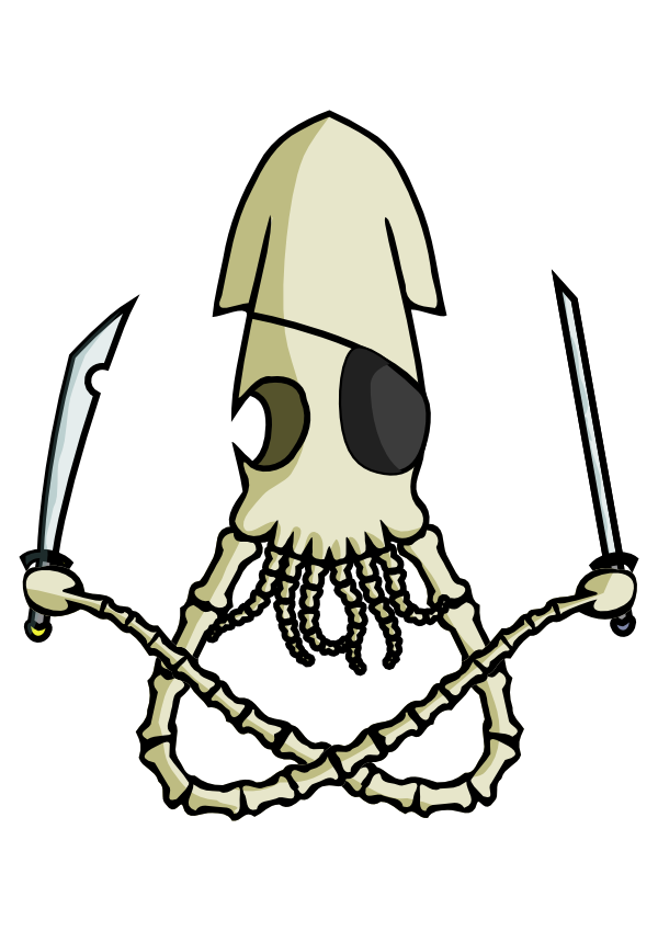 Undead Pirate Squid